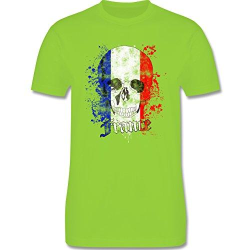 EM 2016 - Frankreich - France Schädel Vintage - Herren Premium T-Shirt Hellgrün