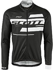 Scott RC Team 10 Fahrrad Trikot lang schwarz/weiß 2017