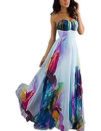 Vestiti Lunghi Donna Eleganti Da Cerimonia Bandeau Abito Da Sposa Vita Alta  Colourful Abiti Per Da Sera Matrimonio… 2221173b6d3