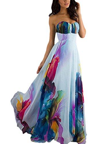 Vestiti donna eleganti anni 50 vintage da cerimonia da sera senza spalline bandeau abito da sposa stampato colourful abiti cocktail party matrimonio vestitini impero