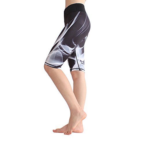 Swallowuk Damen Kompression Sport Kurze Hosen Yoga Running Fitness Stretch Tights Shorts (S, 1)