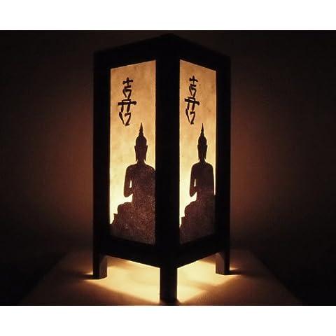 Rari Asiatici Orientali Mobili Arredamento Fatto a Mano Mestiere Thai Carta Lampada Comodini Tavolo Budda Stile Nero Bianco Buddha Camera Da Letto Casa Mobili in Thailandia