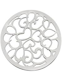 La insignia MY iMenso corazones 33 mm 925/rodio-plateado)