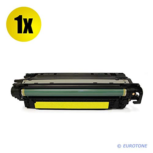 1x Eurotone Remanufactured Toner für HP Laserjet Enterprise 500 Color M 551 575 xh c f DN n ersetzt CE402A 507A - Color Hp M551n-drucker Laserjet