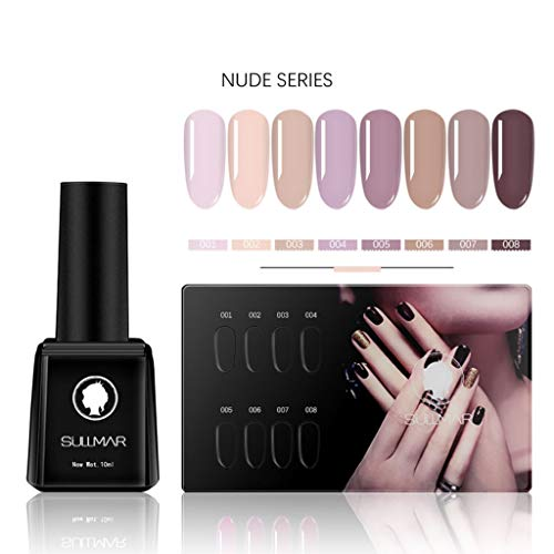 nagellack,Nail Art Gel Lack UV Nagellack UV Gelnägel Farben 8pc Gellacken uv Set Nail Gel Lack Watopi
