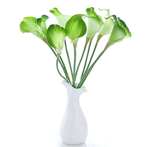 ROSENICE Artificial Calla Lily Flower Bouquet Wedding Party Home Decor - 10 Pieces