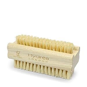 Hydrea London - Brosse pour les ongles en bois double-face à poils naturels