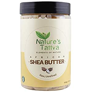 Nature's Tattva Organic Raw Shea Butter Unprocessed From The Jungles Of Africa (500 gm)