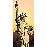 Posterdepot Papel pintado para puerta puerta Póster Estatua de la Libertad New York–Tamaño 93x 205cm, 1pieza, ktt0294