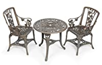 Gablemere 2 Seater Patio Set, Plastic Bronze, with Table