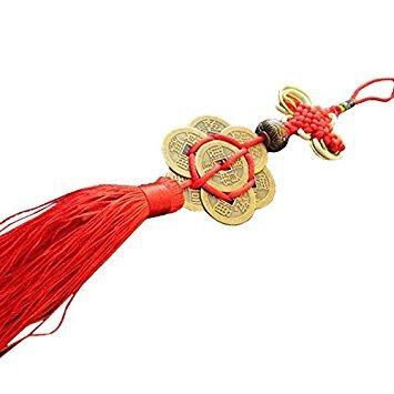 TOOGOO Fashion Feng Shui Chinesische Knoten Quaste China Maskottchen Glücksbringer Alte Münzen Wohlstand Schutz Glück Metall Auto Dekoration Zubeh?r Handwerk Geschenk