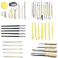 VORCOOL 40 Piezas de cerámica del Kit de Herramientas de cerámica Tallado Escultura Modelado Conjunto de Herramientas de Recorte Kit