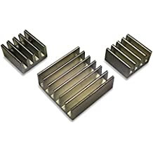 GorillaPi Heatsink For Raspberry Pi 3 & Pi 2 Model B. 3Pc Set (X3 aluminium) With Pre Installed Heatsink Adhesive Offering a Significant Cooling Advantage.