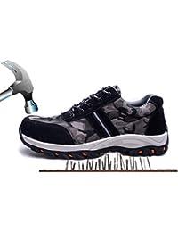 Ansel-UK Uomo Donna S3 Scarpe da Lavoro Comodissime Traspiranti Scarpe  Antinfortunistiche con Punta in Acciaio Stival Calzature da… 16fdc08dfa6