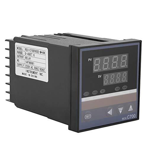 PID-Temperaturregler REX-C700 Digitaler Thermostatschalter mit Selbstdiagnosefunktion, 0-400 ° C/32-752 ° C -