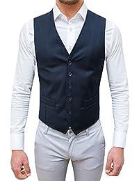 Evoga gilet panciotto uomo sartoriale blu scuro casual elegante slim fit c5190c18e7a