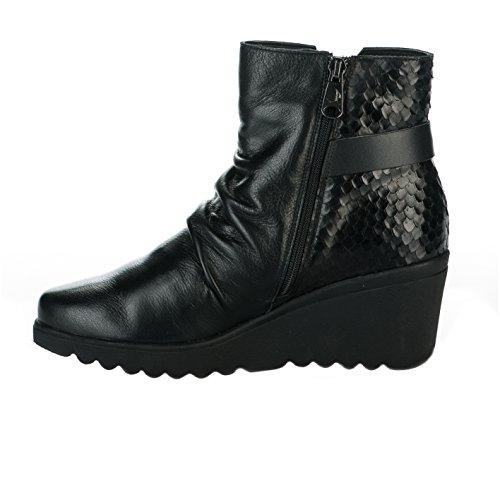 Chaussures de confort femme - PAULA URBAN - Noir - 15374 - Millim Noir