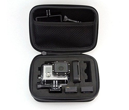 Galleria fotografica Borsa per fotocamera, Owikar S/M/L Dimensioni nero impermeabile antiurto fotocamera scatola di custodia borsetta viaggio EVA Collection Carry box per GoPro Hero 4/3+/3/2/1, Sjacm, Xiaoyi Action Camera (Small)