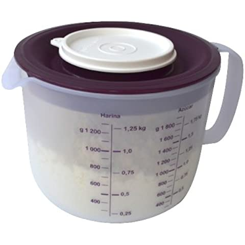 Tupperware Mix & Store Batter Bowl 8 Cup / 2 Qt Measuring Pitcher, Deep Purple. by Tupperware