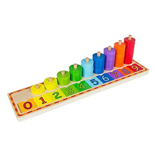 ColorBaby - Juego educativo de madera - 56 piezas: fichas & números (43633)