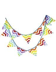10.5 Pieds Flan bannière Banner Drapeau Triangle extérieur Drapeau arc en ciel Stripes Style