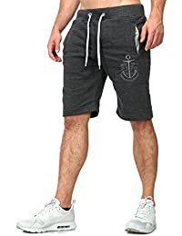 bd7180a1e446 Akito Tanaka Herren Shorts Mariner kurze Sweatpants Freizeit Jogging  Trainings Sport Hose Capri Bermuda Uni einfarbig
