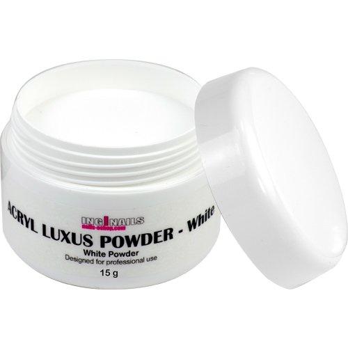 INGINAILS: Acryl Pulver - Luxus white powder 15g - weiße Farbe - von hoher Qualität - geeignet für den professionellen Gebrauch