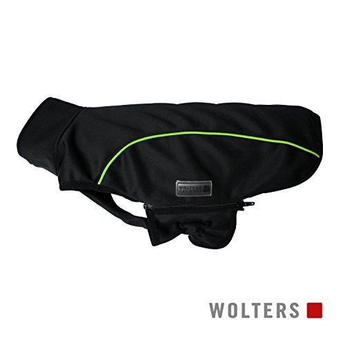 Wolters | Softshell-Jacke Basic in Schwarz/Limone | Rückenlänge 36 cm