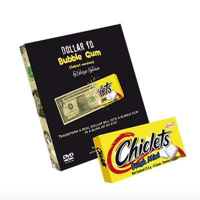 murphys Dollar to Bubble Gum (Chiclets) by Twister Magic - Trick (Ein-dollar-gum)