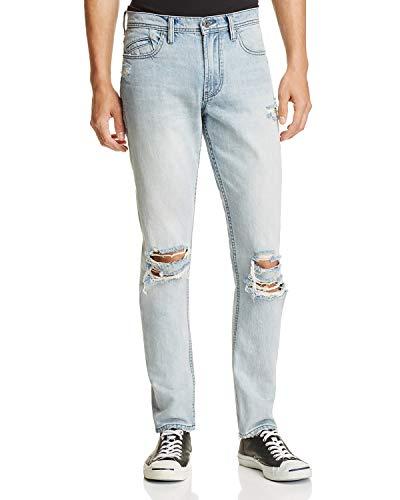 BLANK NYC Destroyed Herren Slim Fit Jeans in Blau - Blau - 48 -