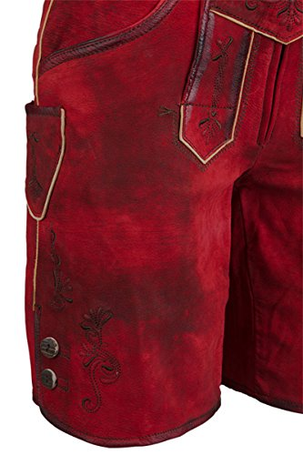 Damen Spieth & Wensky Lederhose rot 'Lina', rot, Rot
