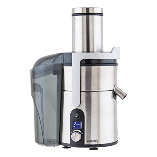 H.koenig gs32 centrifuga, camino extra-large, 5 velocità, acciaio inox, 2l, 1200w, grigio