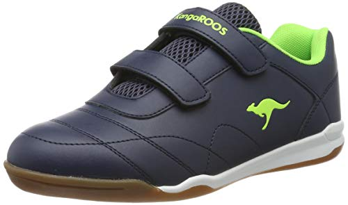 KangaROOS Courtyard V, Zapatillas Unisex Adulto, Amarillo Dk Navy/Lime 4054, 37 EU