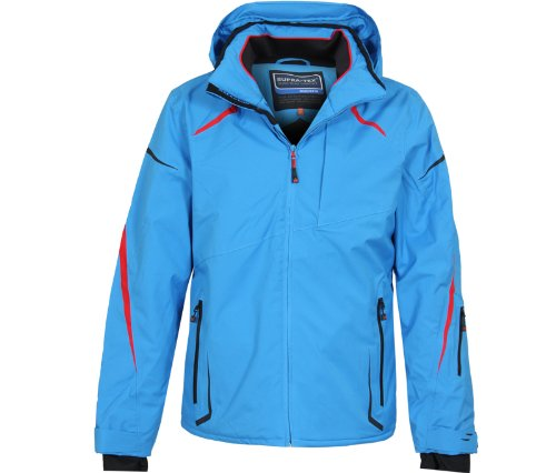 Bergson Herren Skijacke VALLEY - elastisch, wasserdicht, winddicht, atmungsaktiv,warm, Wassersäule: 12000 mm, Atmungsaktivität: 12000 g/qm/24Std, french blue [338], 56 - Herren