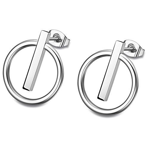 Lotus Style Ohrringe Ohrstecker für Damen aus Edelstahl silber Bliss-Kollektion JLS1886-4-1