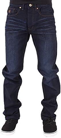 Rocawear Hommes Garçons Double R étoile Coupe Décontracté Hip Hop Jeans Is Money G Temps DKBlu - Bleu Nuit Foncé, 56 - longueur 86 cm