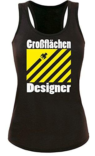 Großflächen Designer - Perfektes Geschenk für Landwirte - Damen Tanktop Schwarz/Weiss-gelb