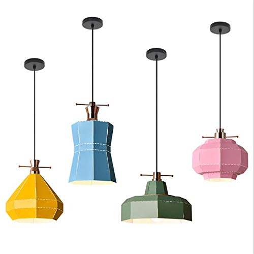 MS.REIA Eisen Kunst Pendelleuchten Leuchte Moderne Hanglamp Shade Esszimmer Nacht Küche Home Beleuchtung Dekor Set von 4