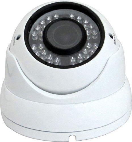 Farbe Wasserdichte Kamera (V-See Dome Überwachungskamera 1080P HD AHD CVI TVI CVBS 4 in 1 CCTV-Kamera Wasserdichte Überwachungskamera 2.8-12mm Objektiv 36 IR Nachtsicht Innen und Außen Aluminium Vandalensicher Weiß Farbe)