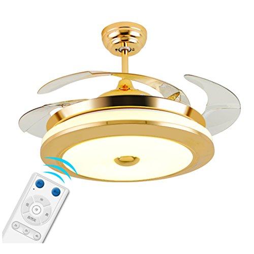 Und Licht-steuerung Remote-ventilator (Wohnzimmer-Deckenventilator-Licht führte unsichtbares Retro- chinesisches Hauptschlafzimmer-einfaches Restaurant-Ventilator-Licht mit Lampen-Ventilator-Leuchter 36 Zoll 42 Zoll-Wand-Steuerung / Fernbedienung Xuan - worth having ( Farbe : Remote Control , größe : 108*46cm 72w ))