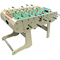 Riley HFT-5 N Folding Table Football Table (167 x Dimensions 132 X 71 cm With Balls and Marker Party, Players Futbol Red and Blue, Levers Chrome, Wood Veneer) – Beech