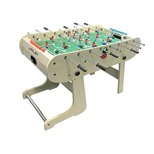 Fußball-billard-kugeln (Riley hft-5N Tisch Kicker zusammenklappbar (Maße: 167x 132x 71cm, inkl. Kugeln und Marker Partei, Spieler Fußball rot und blau, Hebel verchromt, Buche geölt–)