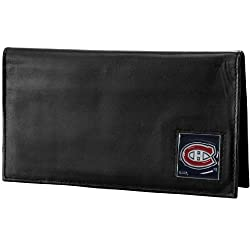 NHL Montreal Canadiens Genuine Leather Deluxe Checkbook Cover
