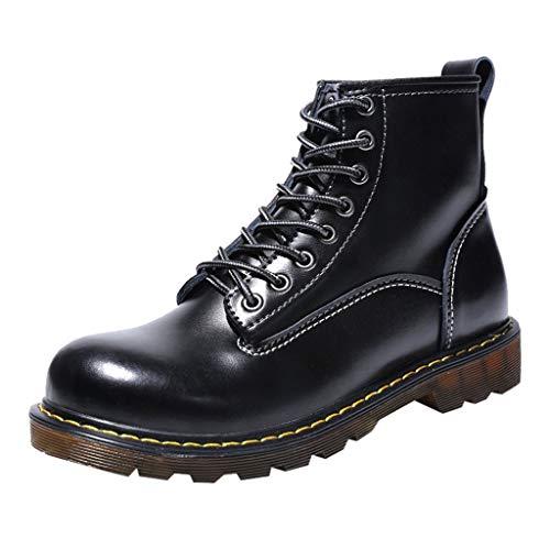 S&H-NEEDRA Chaussures Hommes, Haute Qualité Cuir Hommes Bottes Bottes Hiver ImperméAbles Bottes De Travail en Plein Air Hiver Hommes Bottes Martin MâLe Angleterre Chaussures Hautes