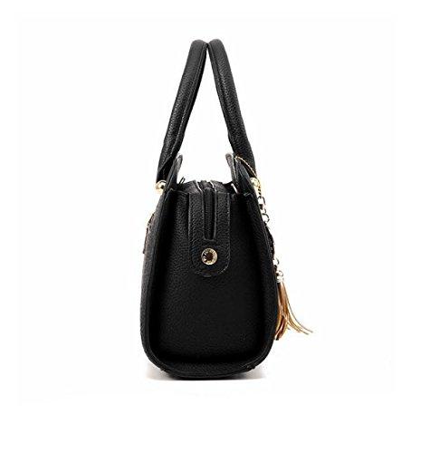 Frau PU Handtasche Schultertasche Messenger Tasche Einfache Shell Tasche Handtaschen Red