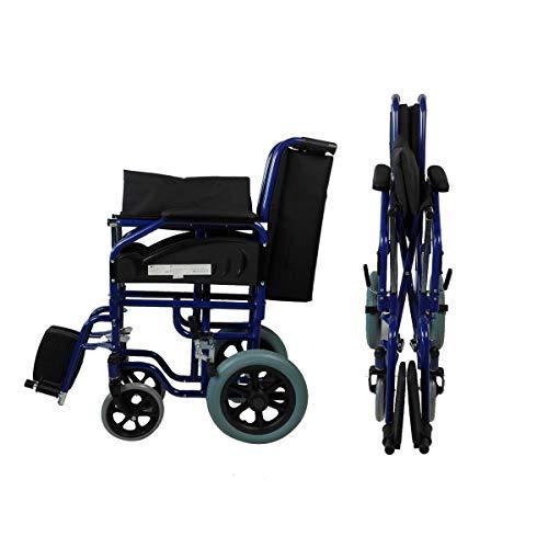 41nEVKam%2BmL - Mobiclinic - Silla de ruedas de tránsito, Plegable, Reposabrazos y reposapiés extraíbles , Negro