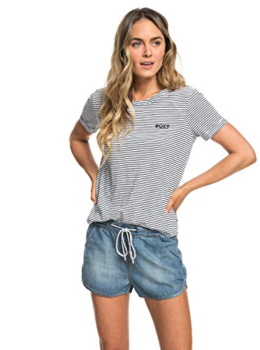 432f6efd82 Roxy Damen Love Sun Tee-Shirt, Dress Blue Cosy Stripes, L