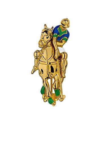 Colore: Verde, placcati in oro, in smalto