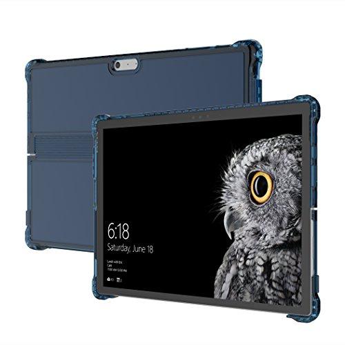 Incipio Octane Pure Case Microsoft Surface Pro 6 / Pro (2017) & Pro 4 - Microsoft zertifizierte Schutzhülle [Kickstand & Type Cover Kompatibel I Verstärkte Ecken I Stylus Halter] - blau/transparent