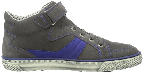 Superfit LUKE 700198, Jungen Hohe Sneakers, Blau (WATER KOMBI 88) Grau (STONE KOMBI 06)